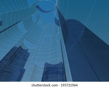 abstract cityscape