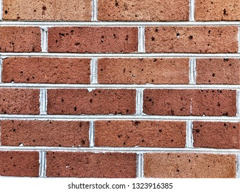 Abstract cleaned brown brick wall background texture , Georgia USA.