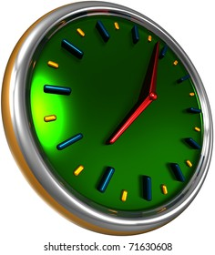 abstract clock, 3d render isolated on white