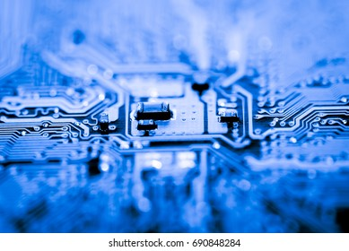 Abstract, close up of Circuits Electronic on Mainboard Technology computer background  (logic board,cpu motherboard,Main board,system board,mobo)