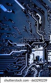 Abstract, close up of Electronic Circuits in Technology on Mainboard computer background  (logic board,cpu motherboard,Main board,system board,mobo)