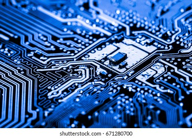 Abstract, Close up at electronic circuits, we see the technology of the mainboard, which is the important background of the computer. (logic board,cpu motherboard,Main board,system board,mobo)