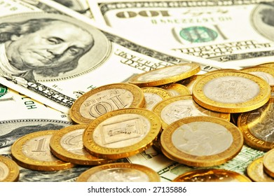 abstract close up money background
