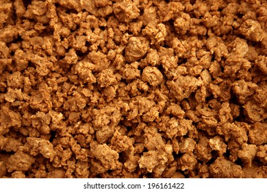 abstract close up of quorn mince