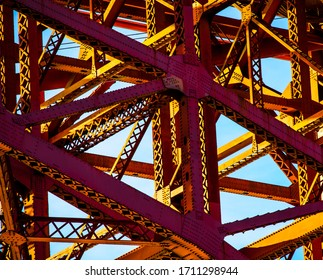 `Abstract close up of understructure of GoldenGate Bridge
