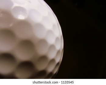 Abstract closeup of golfball