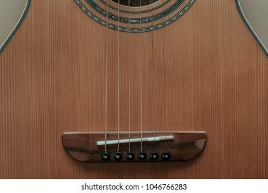 Abstract Closeup of Guitar