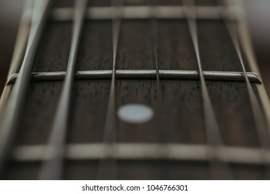 Abstract Closeup of Guitar Fretboard