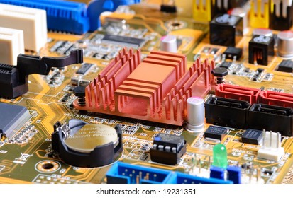 abstract close-up mother board background