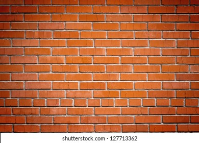 abstract close-up red brick wall background