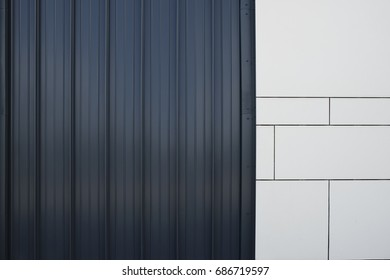 An abstract close-up of a section of a modern building.