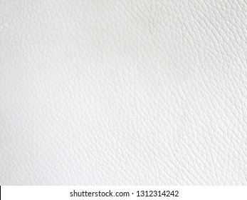 Abstract closeup of white leather background