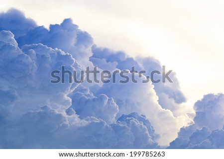 Abstract cloud sky