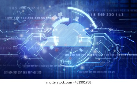 Abstract cloud technology in the future background,