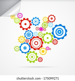 Abstract cogs - gears - Also Available in Vector Version