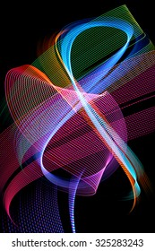 Abstract color background made with light painting or light drawing