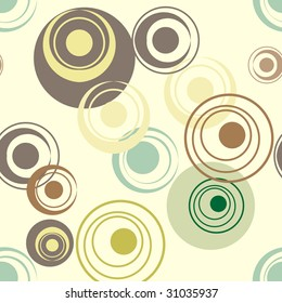 Abstract color circles seamless background