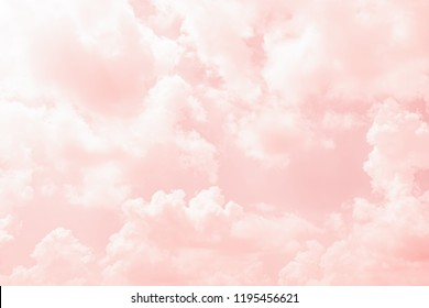 Abstract color of clouds and sky on pink in sunshine for texture background.