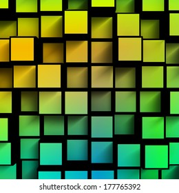 abstract color cube