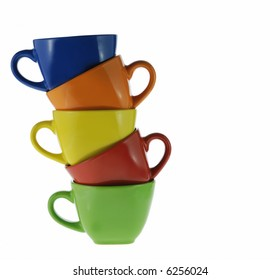 Abstract color cups