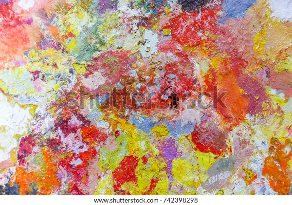 Abstract Color Palette Acrylic Oil Paint Backgrounds