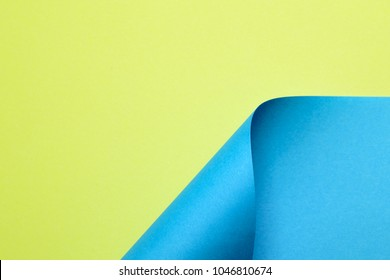Abstract color paper in geometric shapes
