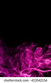 Abstract color smoke on black background, purple smoke background,purple ink background,Violet smoke, beautiful color smoke