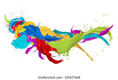 Abstract color splash isolated on white background