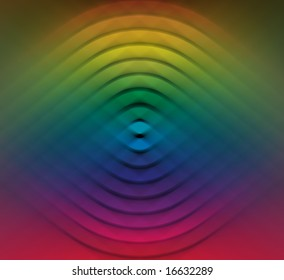 Abstract color wheel design.
