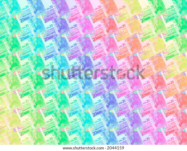 abstract colored 20 euro background