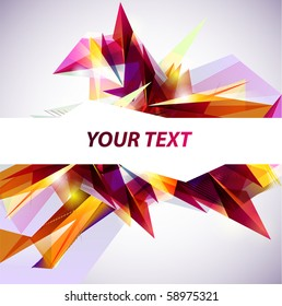 Abstract colored banner.