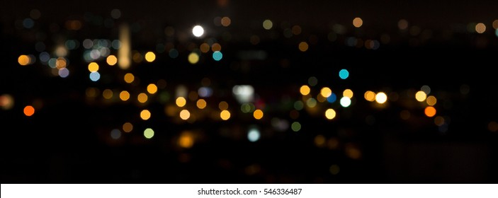 Abstract colored lights bokeh background