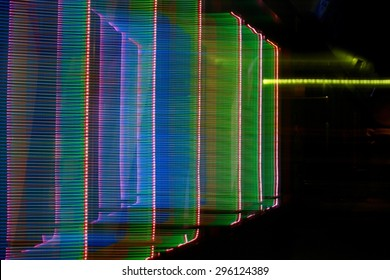 abstract colored lights motion background