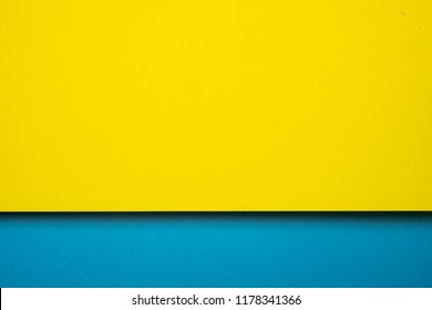 abstract colored paper blue yellow background