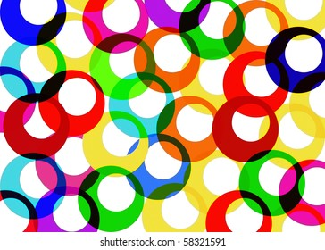 Abstract colored rings background