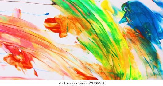 Abstract colorful art painting