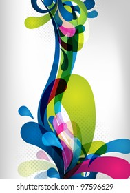 an abstract and colorful background for design