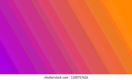 Abstract colorful background with gradient stripes from purple to orange