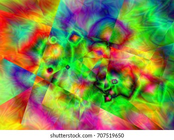Abstract colorful background, illustration, green
