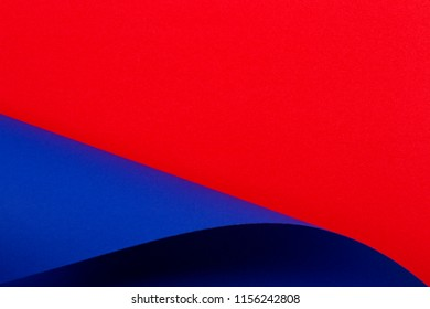 Abstract colorful background. Red and blue color paper in geometric shapes