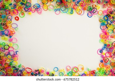 abstract colorful background from rubbers for hobby