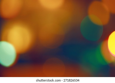 Abstract colorful blurry background, cold and warm colors tone, cinematic effect, evening night street romantic lights