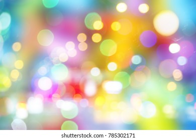 Abstract colorful bokeh background circular facula with beautiful.