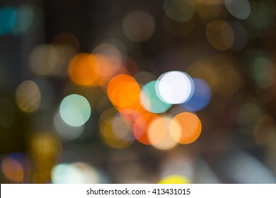 Abstract: Colorful bokeh background at night