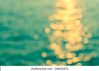 Abstract colorful bokeh of water for background, blurred bokeh.