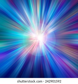 Abstract colorful burst background in blue shades
