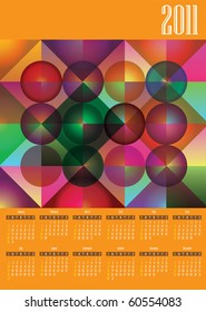 Abstract colorful calendar 2011