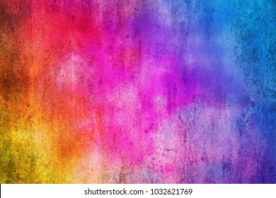 Abstract colorful cement wall texture and background. Grunge red blue and yellow painted on concrete wall. High quality picture.