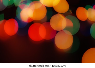 Abstract colorful defocused circular facula. Bokeh blurred color light can use background. new year bokeh defocus