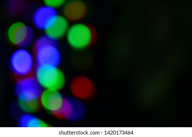 Abstract colorful defocused circular facula. Bokeh blurred color light can use background.